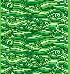 Grass green waves pattern seamless texture ready vector