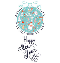 greeting card christmas card turquoise vector image