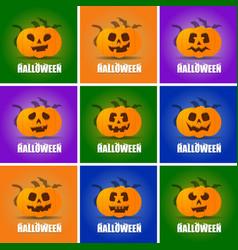 halloween design with creative design vector image
