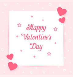 happy valentines day card love pin text vector image