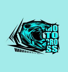 helmet motocross motocross design vector image