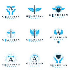 Holy spirit graphic logotypes collection can vector