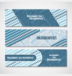 Horizontal banners for oktoberfest vector