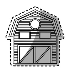 Isolated farm building design vector image