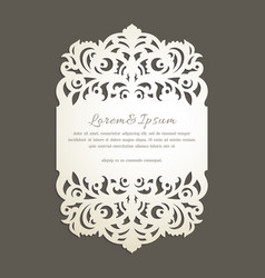 laser cut greeting card vector image