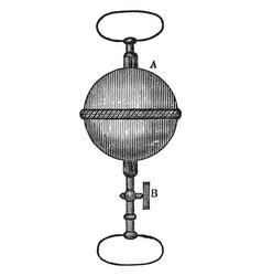 Magdeburgh hemispheres vintage vector