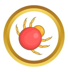 Mite parasite icon vector