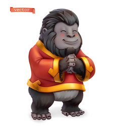 monkey gorilla funny animal in chinese zodiac vector image