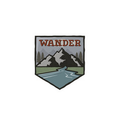 mountain vintage badge mountain explorer label vector image