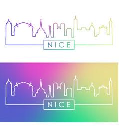 nice skyline colorful linear style editable vector image