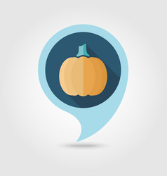 pumpkin flat pin map icon vegetable vector image
