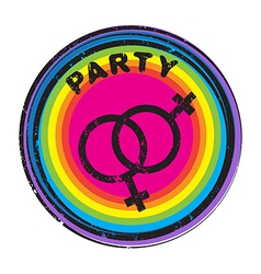 queer party stamp vector image