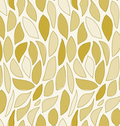 repeating brown leaf pattern vector image