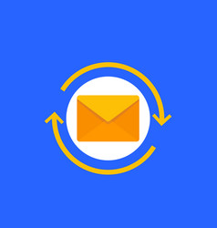 resend mail icon flat vector image