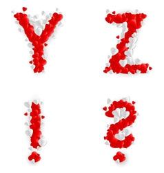 Romantic font vector