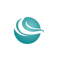 Round abstract wave logo vector