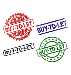 scratched textured buy-to-let stamp seals vector image