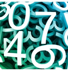 set digital numbers blue background vector image