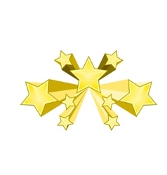 Shiny gold stars vector image