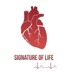 Signature of life design concept vector