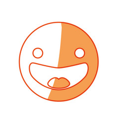 Smile emoticon symbol vector