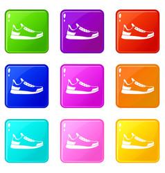 Sneaker set 9 vector