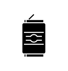 soda can icon black sign on vector image