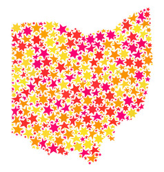 Star mosaic map of ohio state vector