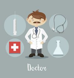 the doctor character vector image