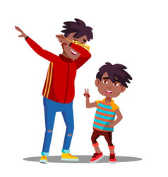 Two little afro american boys with dreadlocks vector
