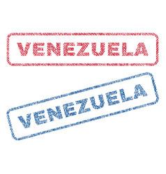 Venezuela textile stamps vector