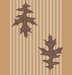 vintage leaves vector image