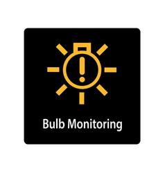 warning dashboard car icon bulb monitoring vector image