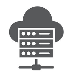 web hosting glyph icon data and analytics vector image