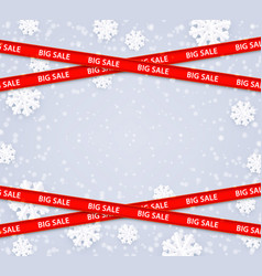 winter big sale template vector image