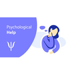 Women psychological help psychotherapy vector