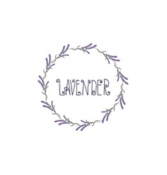 wreath lavender template design vector image