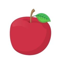 Fresh red apple cartoon icon vector image vector image