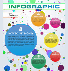 modern infographic with colorful circuit vector image