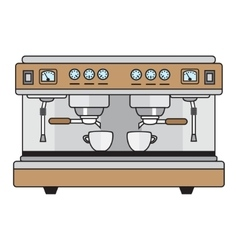 professional coffee machine metallic colors in a vector image vector image