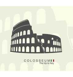 Roman Colosseum isolated vector image vector image