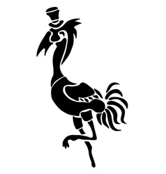 Tattoo of a stork vector image vector image