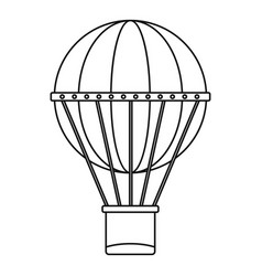 aerial transportation icon outline style vector image
