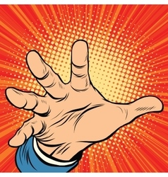 Hand palm power vector image vector image