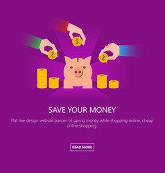 intellectual investment save your money vector image