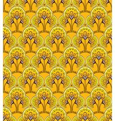 Retro Yellow Seamless background vector image