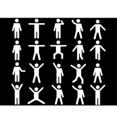 White human pictograms vector image