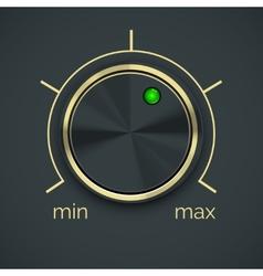 Circular Metal Controller with Button vector image vector image
