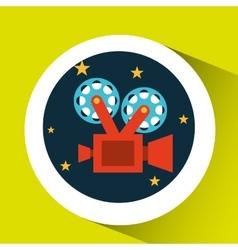 concept cinema theater camera graphic design vector image