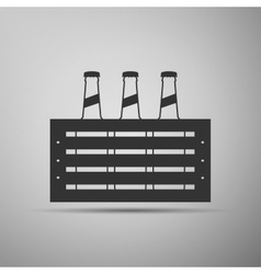 Pack of beer icon vector